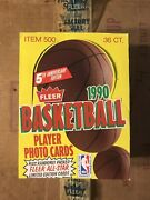 Fleer Basketball 1990 Player Photo Cards 1 Full Box 36ct Unopened/untouched.