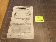 American Flyer Train Operating Instructions 722 Manual Control Switch Track Loto