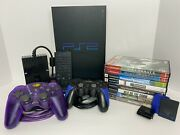 Sony Playstation 2 Scph-5001 Bundle 2 Controllers 8 Games Dvd Remote Multitap