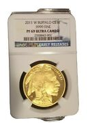 2011 W 50 Proof Gold Buffalo Early Releases G50 1oz Ngc Pf69 Ultra Cameo