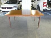 Large 1960and039s Moreddi Danish Modern Dining Table W Pull Out Leaves Unrestored