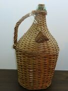 Antique Vintage 16.1 / 4 Demijohn With Cover And Handle Around 1920.
