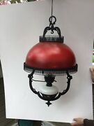 Vintage Oil Lamp Hanging Hand Painted Ceiling Beautiful14x25andrdquow/o Chain