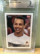 2009-10 Topps 321 Stephen Curry Rookie Warriors Bgs 9 Mint