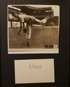 Carl Hubbell Signature With Sepia Photo Collectible Autograph Vintage