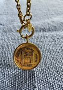 Auth Vintage Gold Plated Cambon Pendant Long Chain Necklace Lowest Price