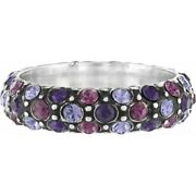 Nwt Brighton Crystal Voyage Silver Amethyst Purple Antique Ring Size 9  Etched