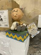 """Peanuts Charlie Brown Snoopy Jim Shore """"happiness Is Snuggling"""" Rare"""