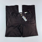 Chicos Chino Pants Dark Brown Modern Fit Womens Size 1 Brand New