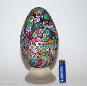 Magnificent Old Paperweight Murano 🇮🇹 Millefiori Egg Vtg Glass Fratelli Toso