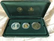 2001 Sir Donald Bradman Commemorative 3 Coin Proof Set - Limited Edition