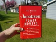 Vintage 1950and039s Jacobsen Power Mowers Fuel Mixture Gas Gallon Can Lawn Mower