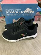 New Womenand039s Skechers Go Walk Air Whirl Goga Mat Black Athletic Shoe Pick Size