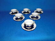 Meissen Coffee Cup And Saucer 6 Pieces  Porcelain