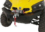 2010-16 Can Am Commander Bumper W/top Winch Mount Inc. 2 Brackets And Bash Plate