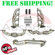 Afe 48-34139 Twisted Steel Headers W/ Up-pipes And Down-pipe For 6.6l Duramax Lml