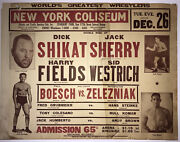 Extremely Rare 1933 New York Professional Wrestling Poster.
