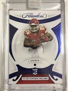 Clyde Edwards Helaire 1/10 2020 Panini Flawless Encased Rookie Sapphire Gem Ssp