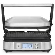 Cuisinart Contact Griddler With Smoke-less Mode - Brushed Stainless Steel - Gr-6
