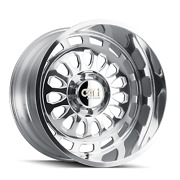 22 Inch 6x135 Wheels 4 Rims Polished/milled Spokes -51mm Cali Off-road Paradox