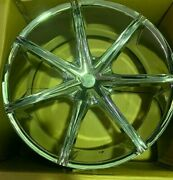 4 Structure Alloy 24x9.5 Chrome +15mm 73.1mm Set New Wheels 5x115mm
