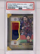 2019 Lionel Messi Topps Museum Collection Fc Barcelona Patch Relic /50 Psa 9
