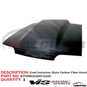 [ Vis Racing ] Cowl Induction Style Carbon Fiber Hood Fit 1987-1993 Ford Mustang
