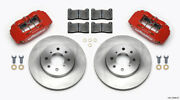 Wilwood Dpha Front Caliper And Rotor Kit Red For Honda / For Acura W/ 262mm Oe Rot
