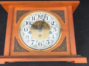 Arnold Becker Mantle Table Clock Franz Hermle Wood Key Germany 340-020