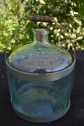 Myers And Company Pure Fulton Whiskey Glass Gallon Jug W/carrier Covington Ky