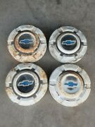 1969 - 1972 69-72 Chevy Truck C10 Hubcaps 10 1/2 Ton Set Of 4