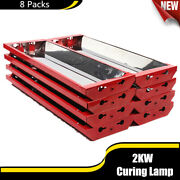 8 Sets 2kw Infrared Paint Curing Lamp Spray Baking Booth Paint Dryer Heater