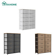 Yitahome 10 Drawer Chest Dresser Clothes Storage Bedroom Furniture Cabinet Shelf
