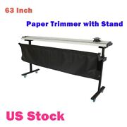 Usa-63 Manual Paper Trimmer Cutter Trimming Machine With Support Stand