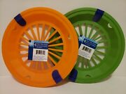 Paper Plate Holders 2 Sets Of 4 Orange And Green