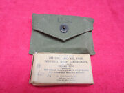 Us Wwii Original First Aid Pouch Dated 1945 W/ Battle Dressing