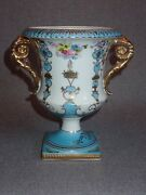 Vintage Andrea By Sadek Small Porcelain Urn Hand Painted Flowers 1930s - 1940s