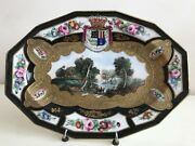 Limoges France - Stunning Unusual Antique Hand Painted Porcelain Plate Signed
