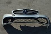 17 W205 Mercedes C63 C43 Coupe Sport Front Bumper Cover Complete Assembly White