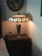 Bradley -hubbard Antique Leaded Glass Lamp - Early 1900andrsquos