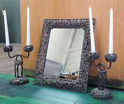 Persian Candle Holder And Mirror