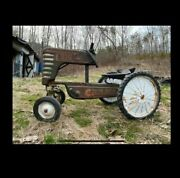 Vintage Pedal Car Tractor Ford Amf Engine Big 4 538 Rare Motor Green Deere Ford