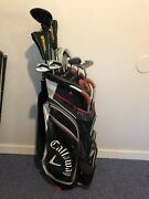 High End Complete Golf Club Set And Bag, Callaway Xr, Warrior And Mizuno