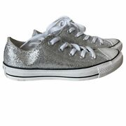 Converse Chuck Taylor Sparkle Silver Low Tops