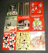 1970-79 Cincinnati Reds 9 Diff Yearbks W And03976 And And03979 Playoff Program And And03976 Ws Prog
