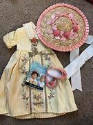 American Girl Felicity Tea Lesson Gown Dress Outfit Hat Shoes Retired