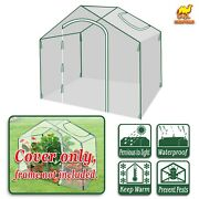 Replacement Cover Only For 5.9and039x3.5and039x5and039 Outdoor Plant Gardening Mini Greenhouse