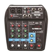 20xteyun 4-channel Mixer Outdoor Conference Audio Usb Bluetooth Reverb Audio