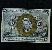 5c Fractional Note ✪ Xf Extra Fine ✪ 2nd Issue Extremely L@@k Now B102 ◢trusted◣