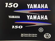 Yamaha 150 Hp Hpdi Outboard Engine Decal Kit High Pressure Direct Injection